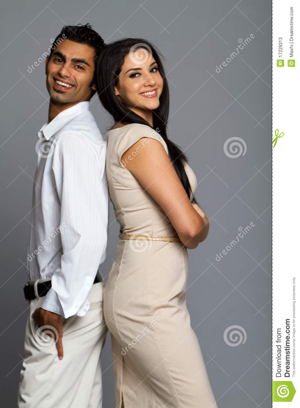 Professional ethnic couple