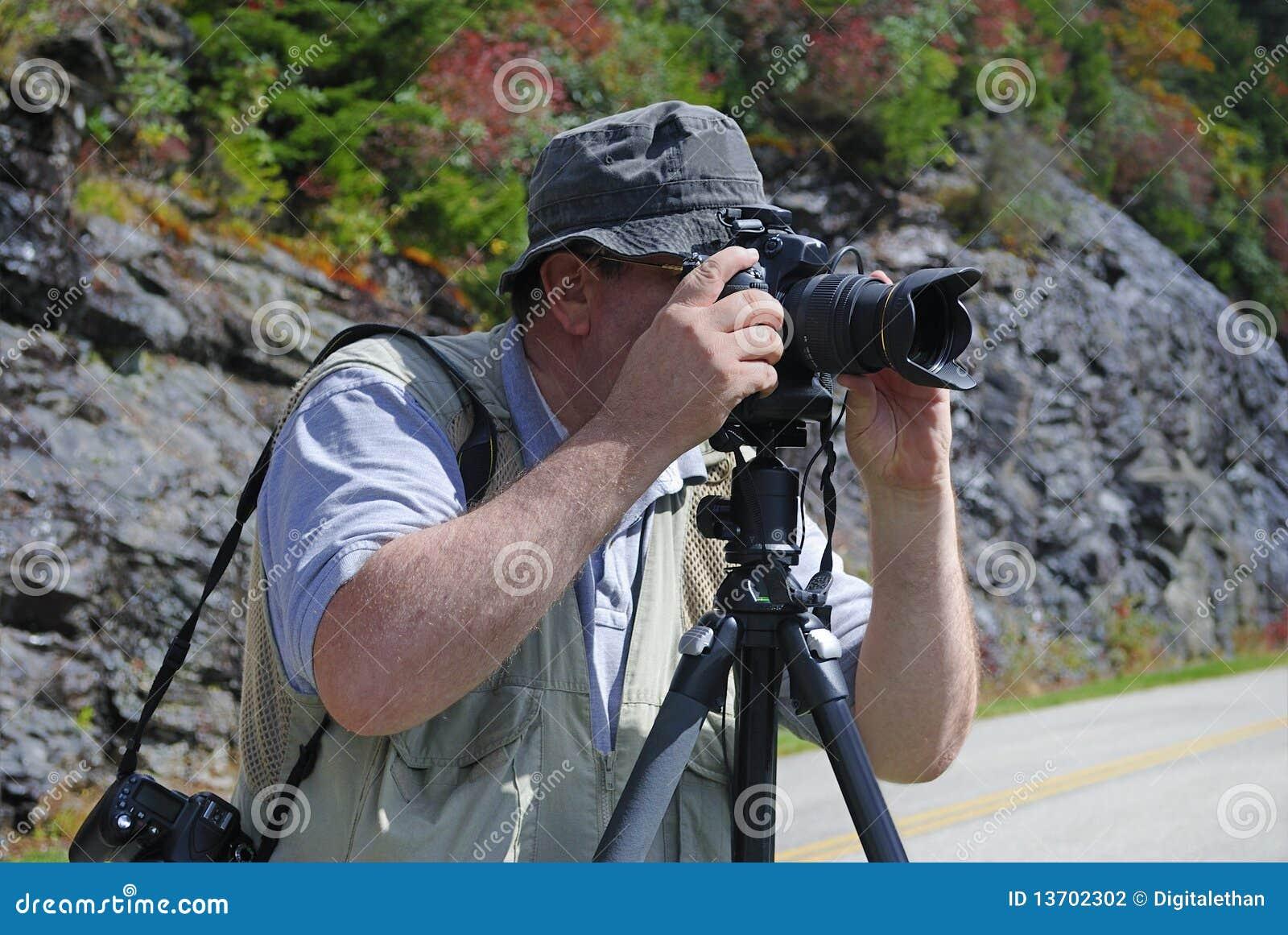 Professional for för fotofotograf