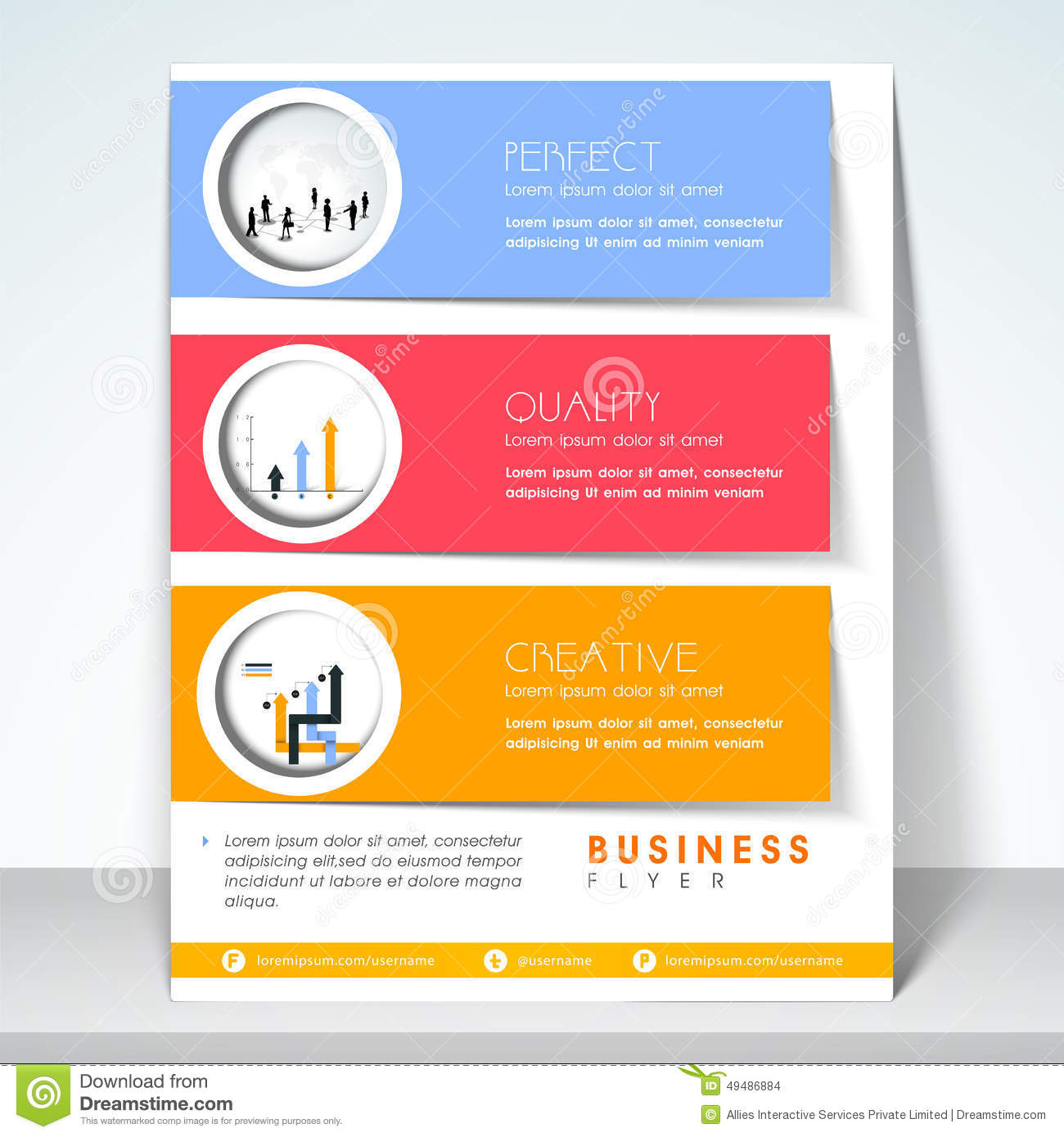 professional flyer brochure or template stock illustration