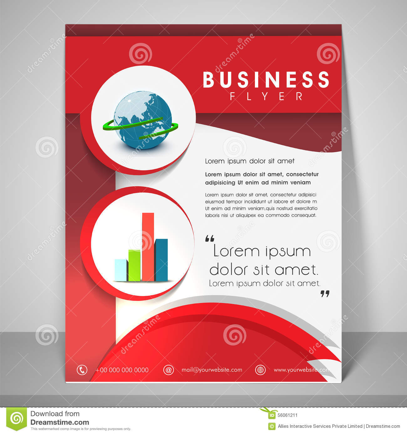 professional flyer template or banner for business stock professional flyer template or banner for business
