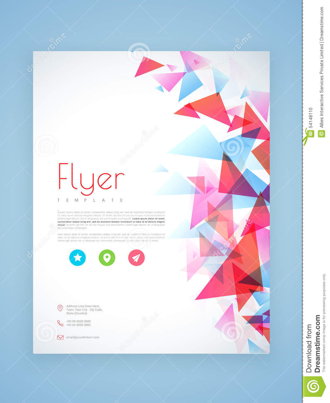 Professional flyer template or brochure design stock for Professional brochure design templates