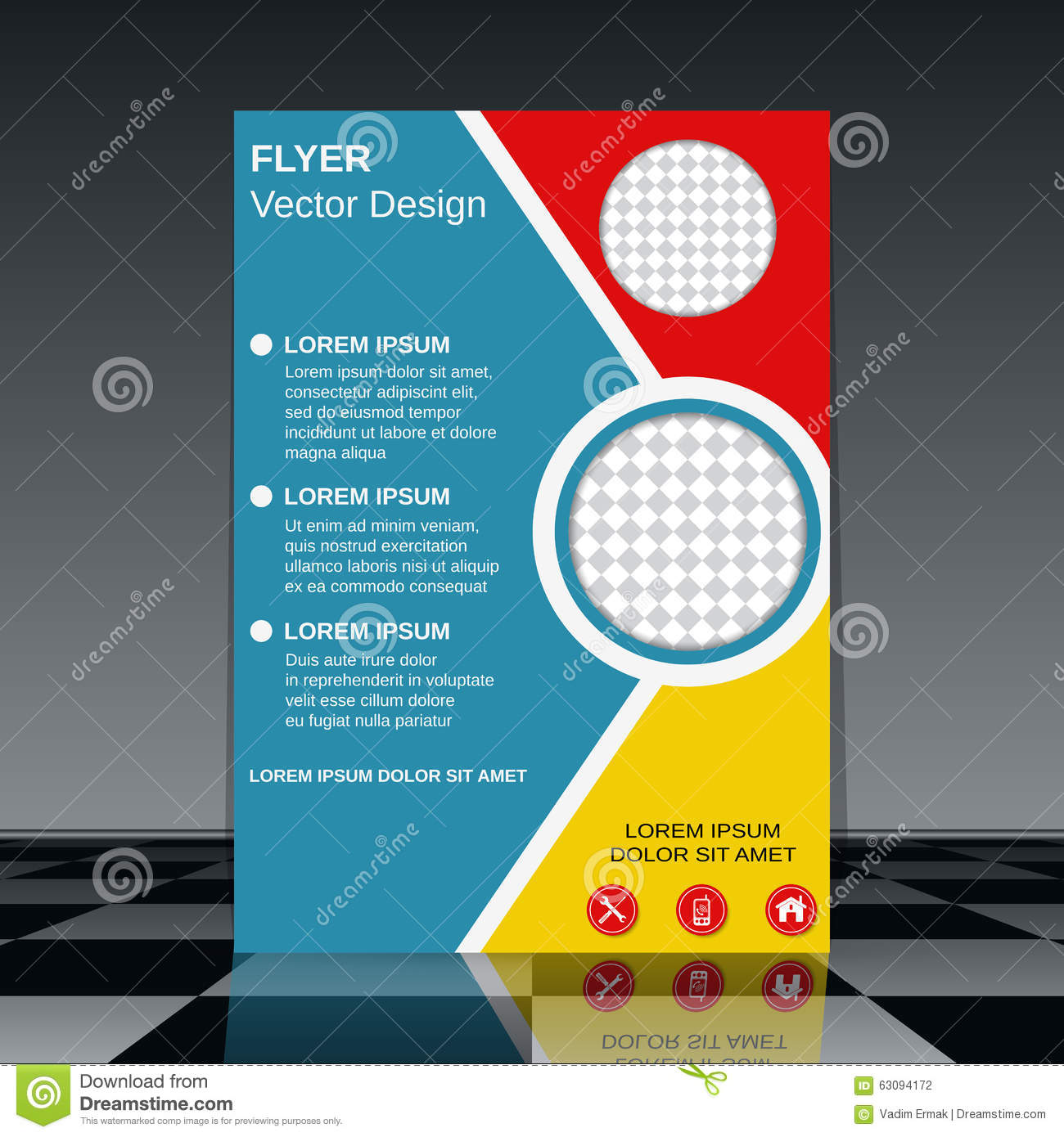 professional flyer template stock vector image 63094172 professional flyer template