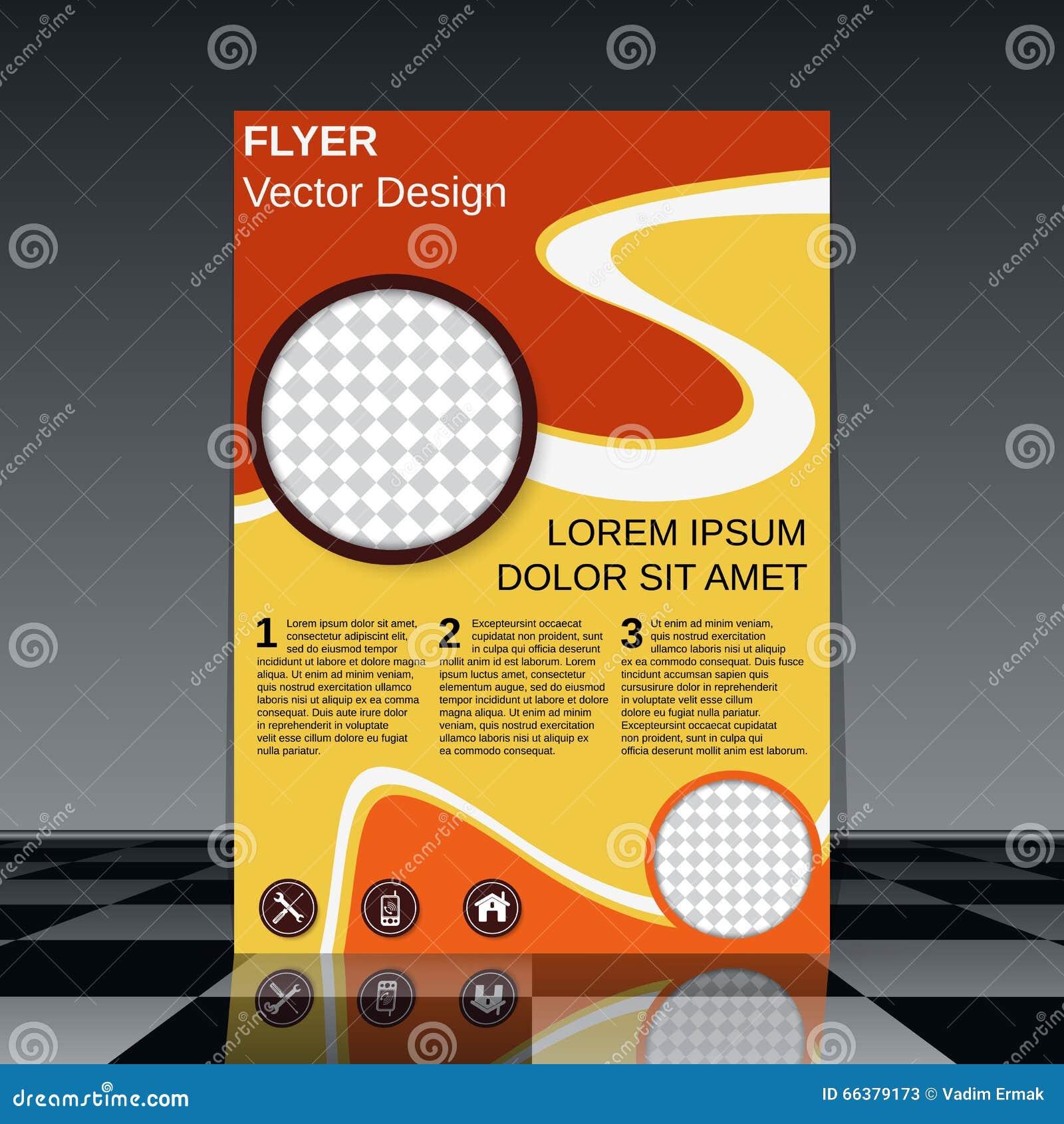 professional flyer vector design stock vector image  professional flyer vector design