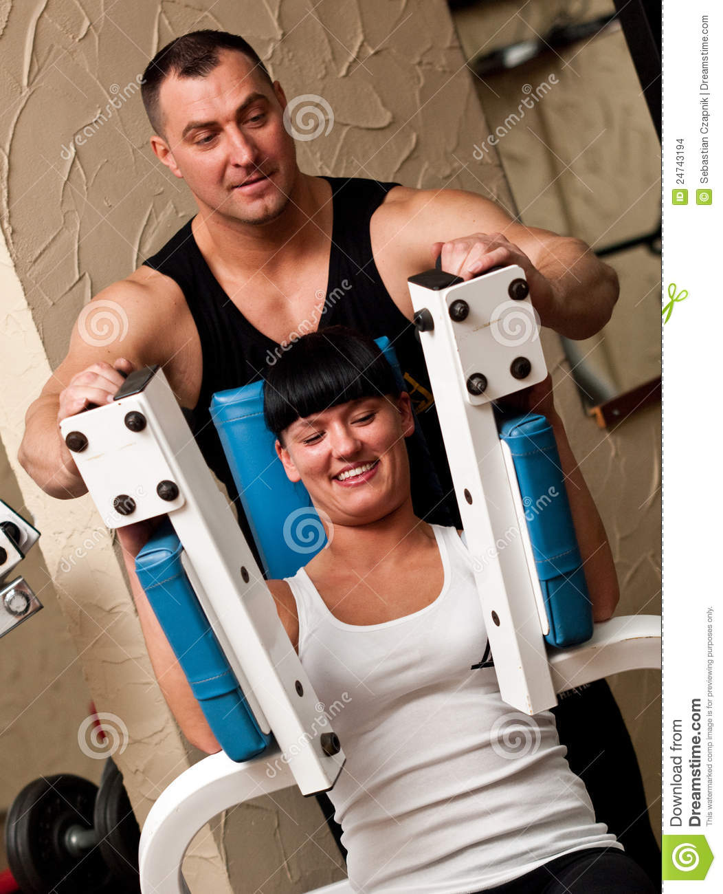 Professional Gym Instructor Stock Images - Image: 24743194
