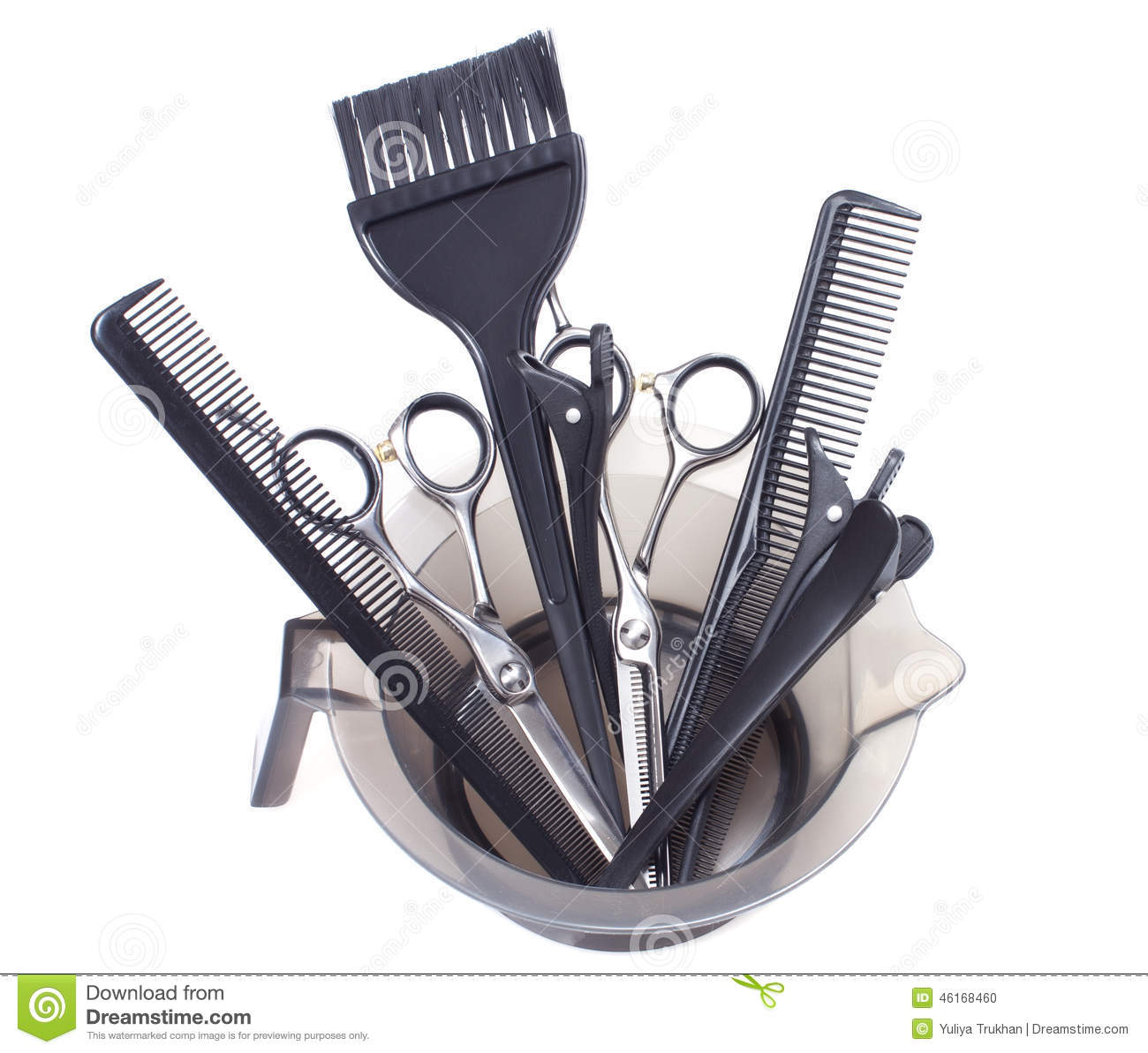 Professional Hair Coloring Tools Stock Image Stock Photo