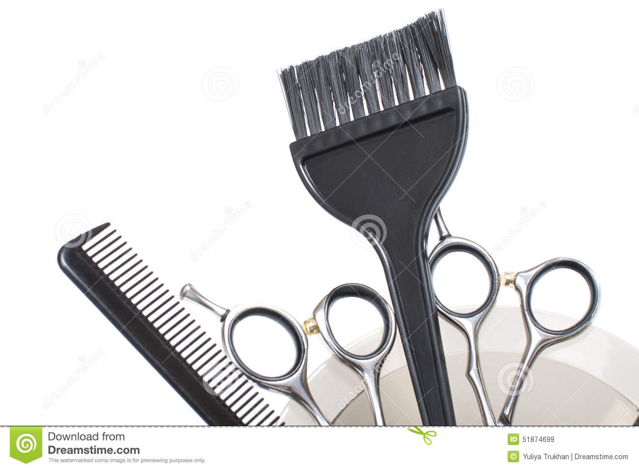 Professional Hair Coloring Tools Stock Image Stock Image Image