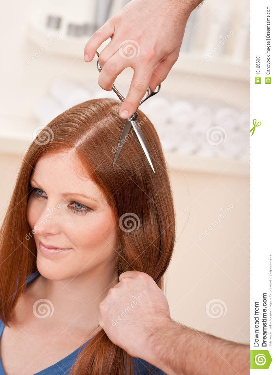 Professional Hairdresser : Professional Hairdresser Cut With Scissors Stock Photos - Image ...