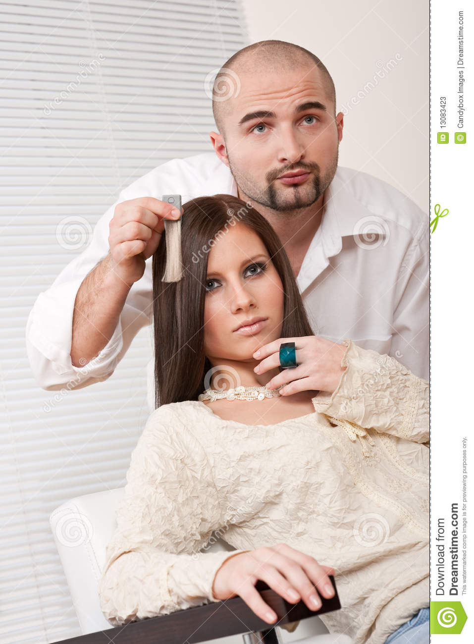 Professional Hairdresser : Professional Hairdresser At Salon Stock Photos - Image: 13083423
