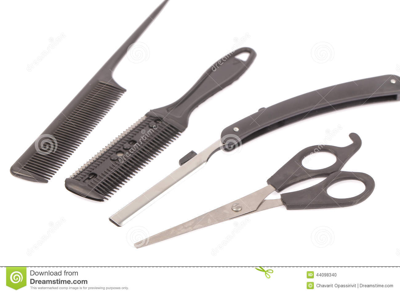 Professional Hairdresser : Professional Hairdresser Tools Stock Photo - Image: 44098340