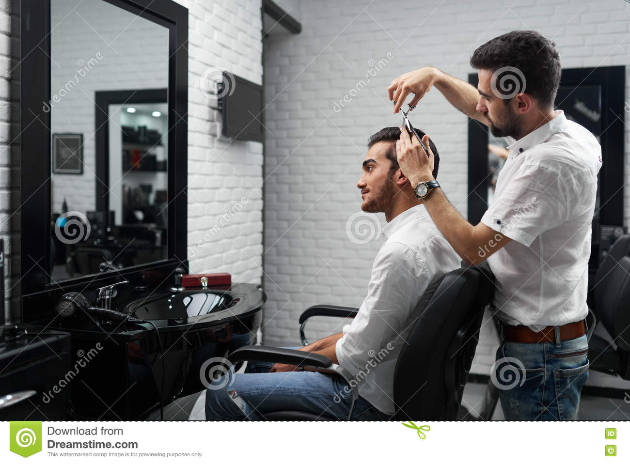 royalty free stock photo - Professional Hairstylist