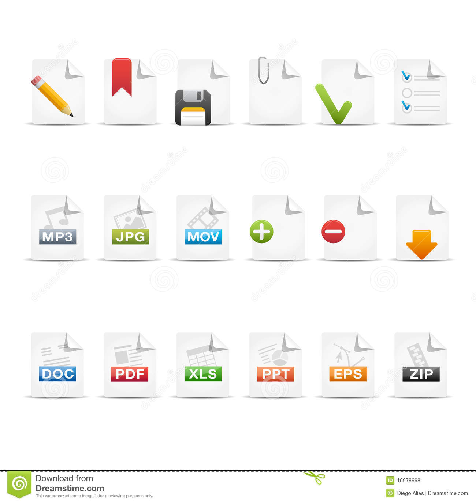 Professional Icon Set / 2 - Documents Stock Vector ...