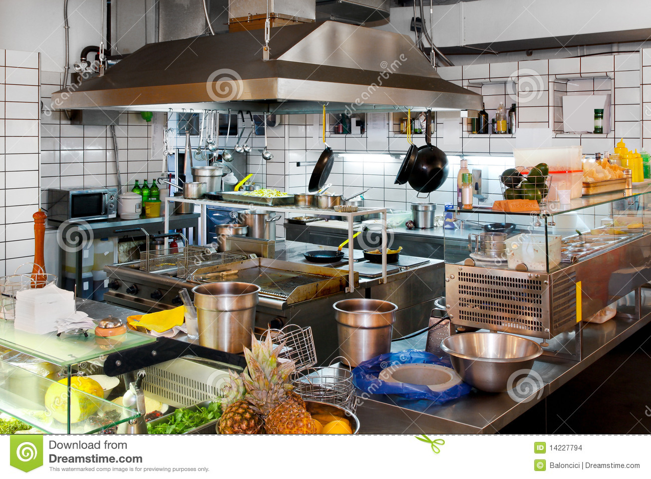 Professional Kitchen Stock Photo Image Of Restaurant