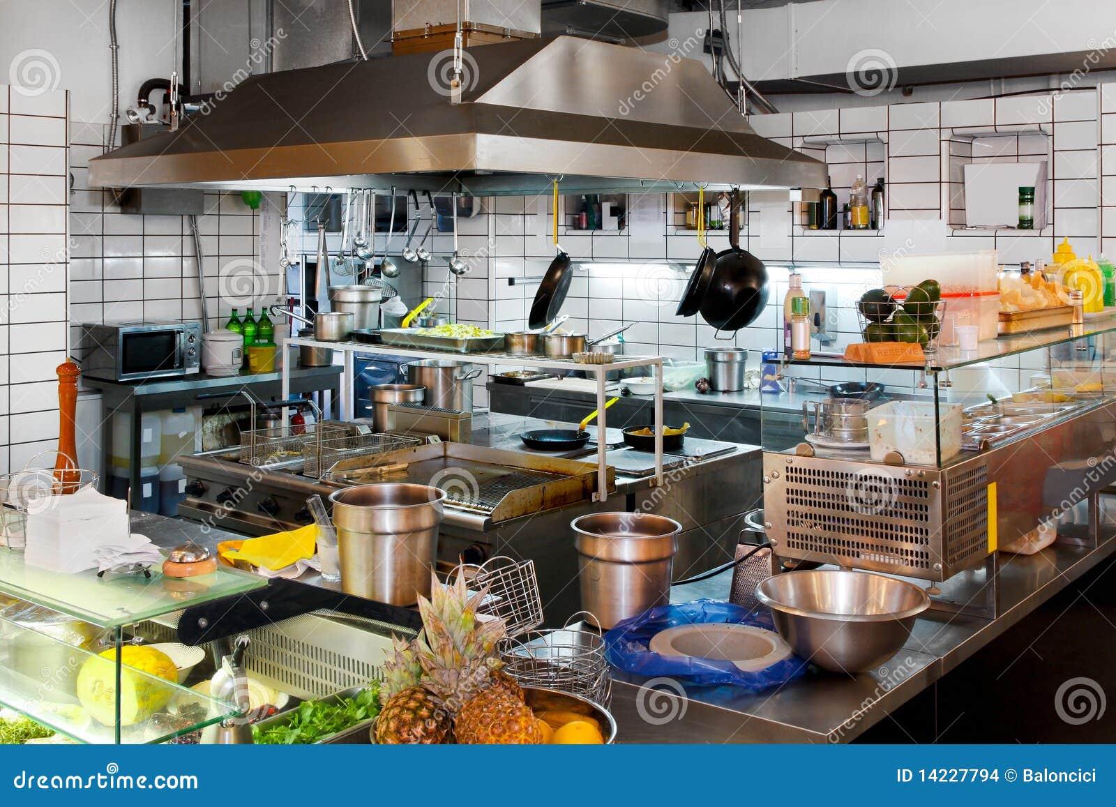 Professional Kitchen Stock Image