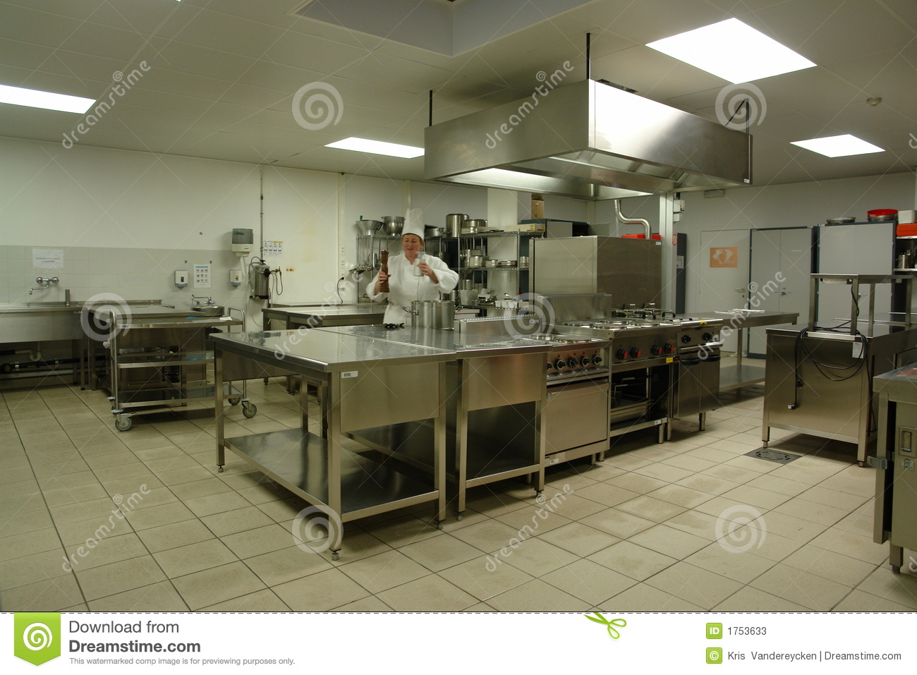 Professional kitchen with chef cook stock image image for Material cocina profesional