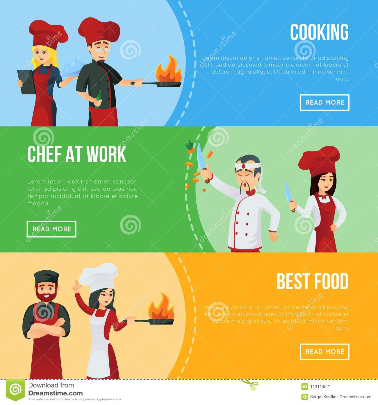 Professional Recruitment: Professional Kitchen Staff Recruitment Agency Stock Vector