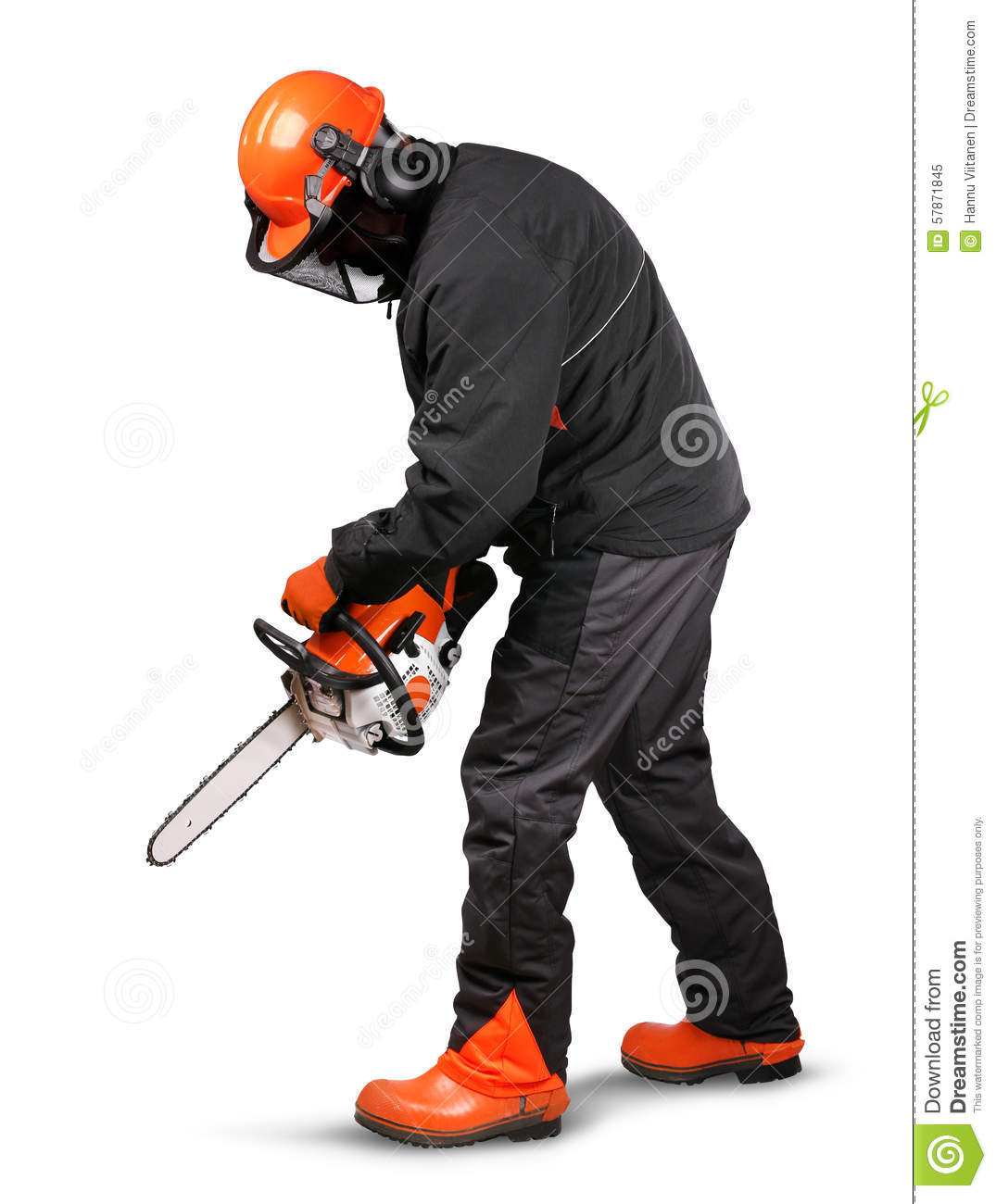 Professional Logger Safety Gear Stock Photo Image 57871845
