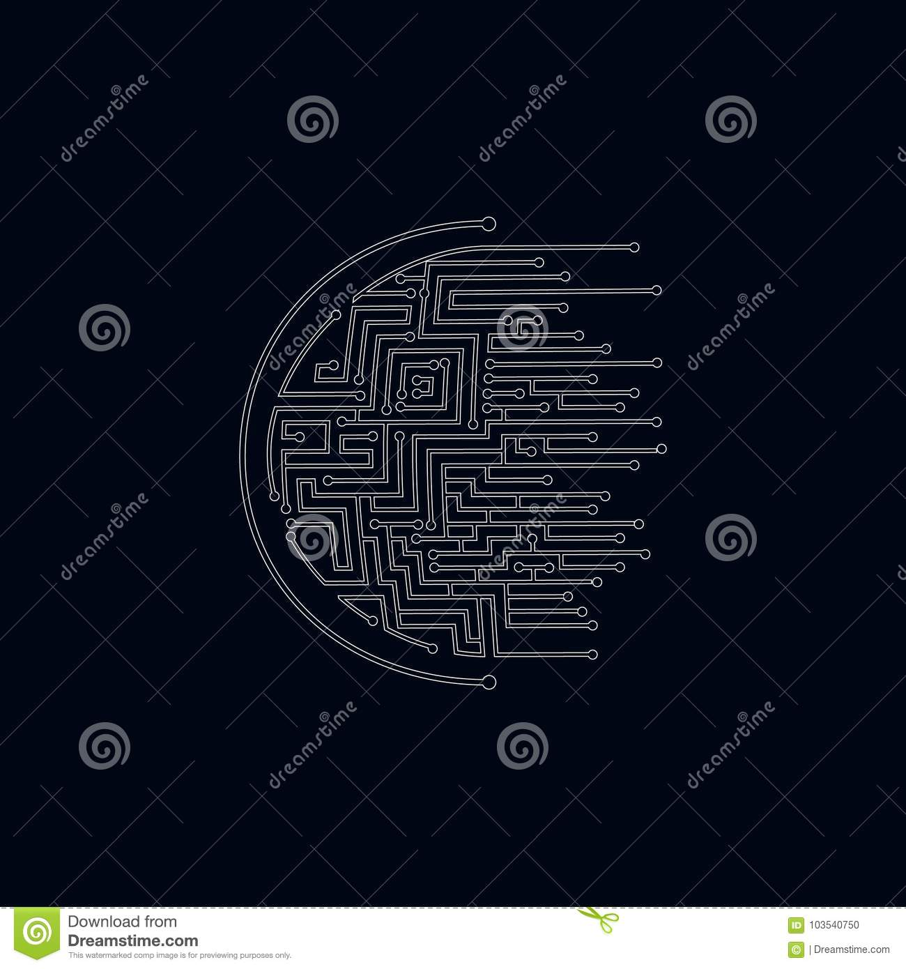 Professional Logo Design Circuit Stock Vector Illustration Of 5 Labyrinth