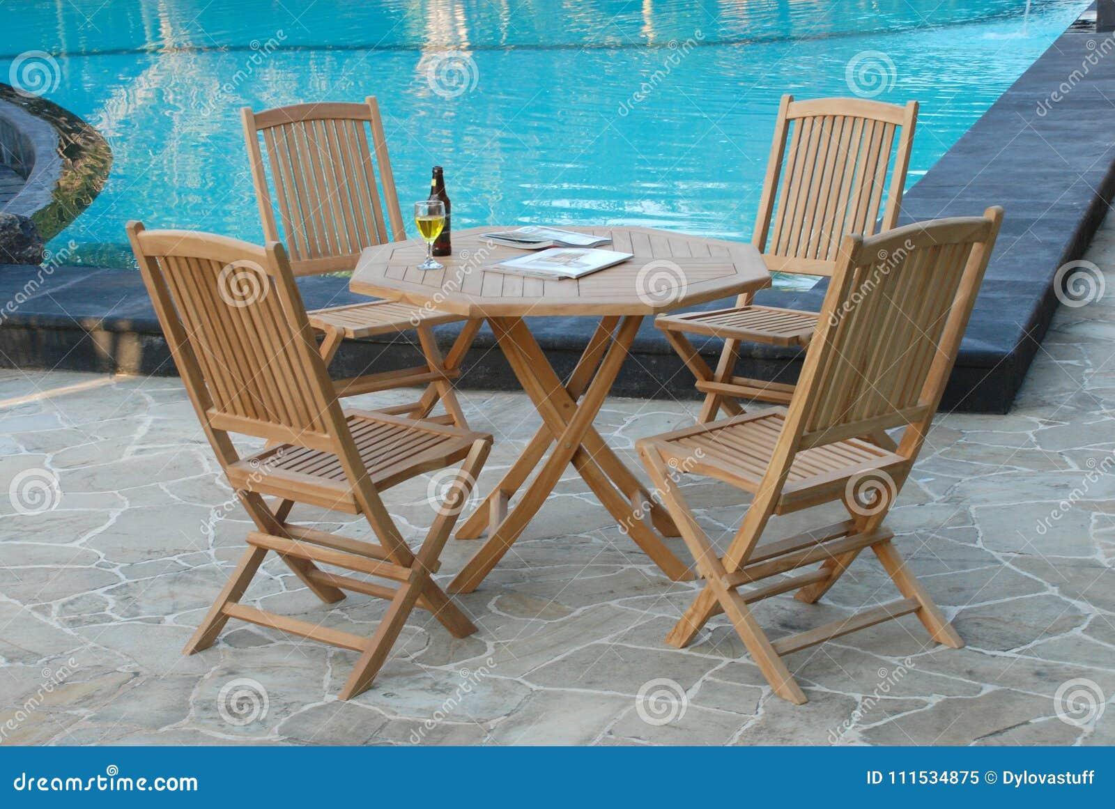 Swell Teak Garden Furniture Out Door Teak Garden Stock Image Machost Co Dining Chair Design Ideas Machostcouk