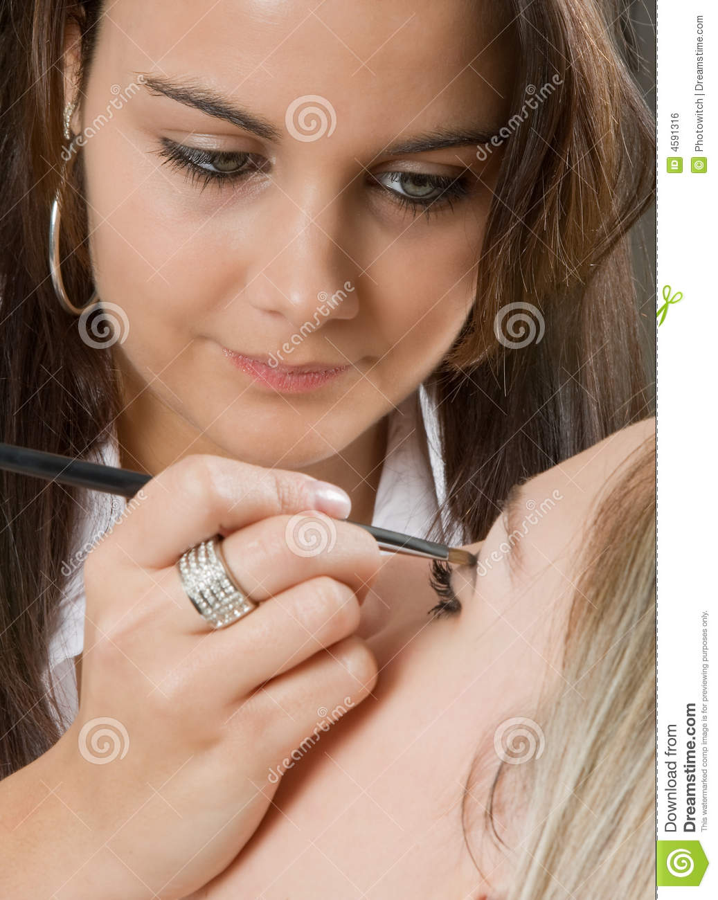 Professional Make Up Artist: Professional Make-up Royalty Free Stock Image