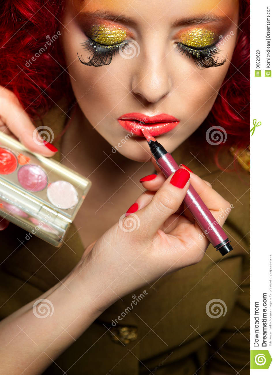 Professional Make Up Artist: Professional Make-up Royalty Free Stock Images