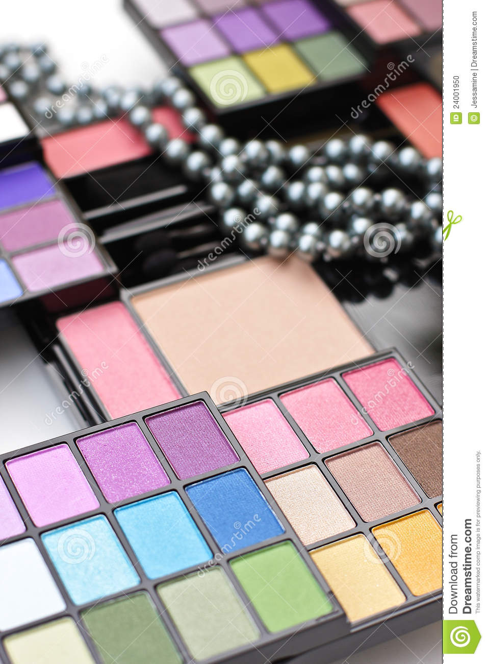 Professional Make Up Artist: Professional Make-up Palette Stock Photo