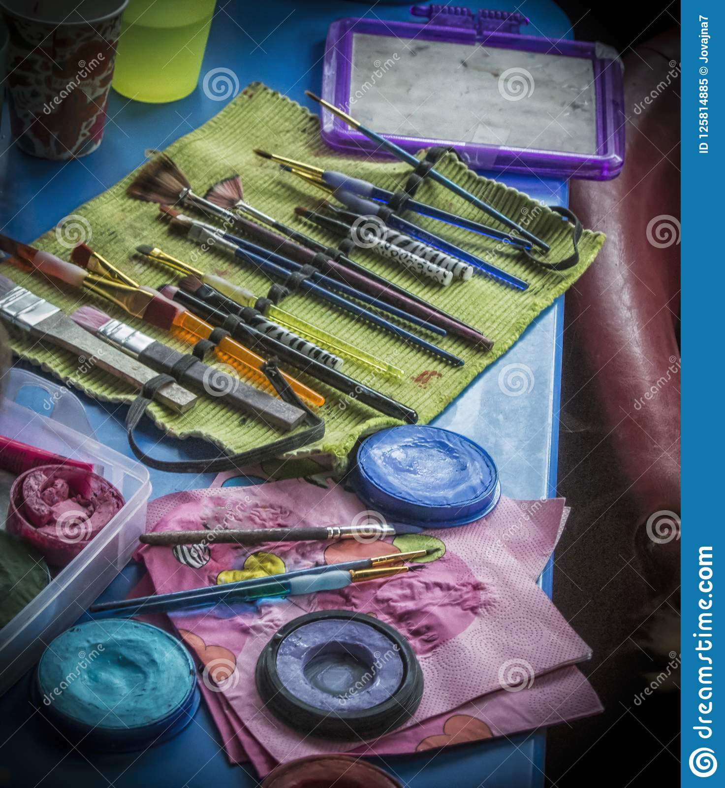 Makeup set for Children`s Birthday Party