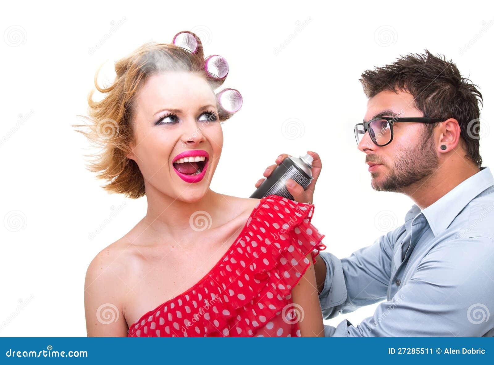 Professional male frisör