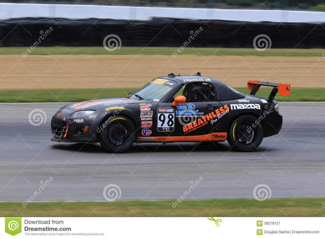Professional Mazda MX-5 Race Car On The Course Editorial ...