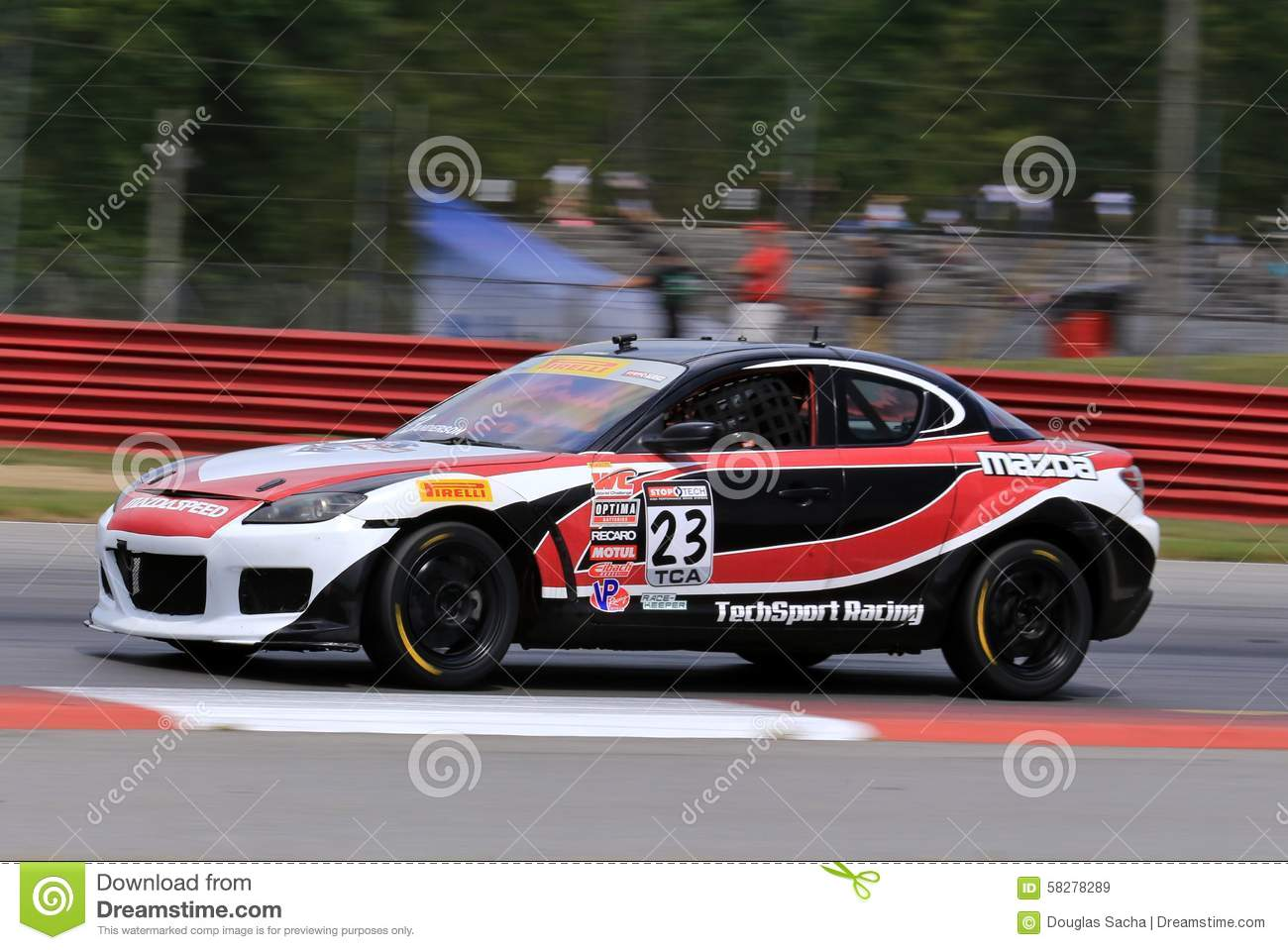 Professional Mazda RX8 Race Car On The Course Editorial Stock Image ...