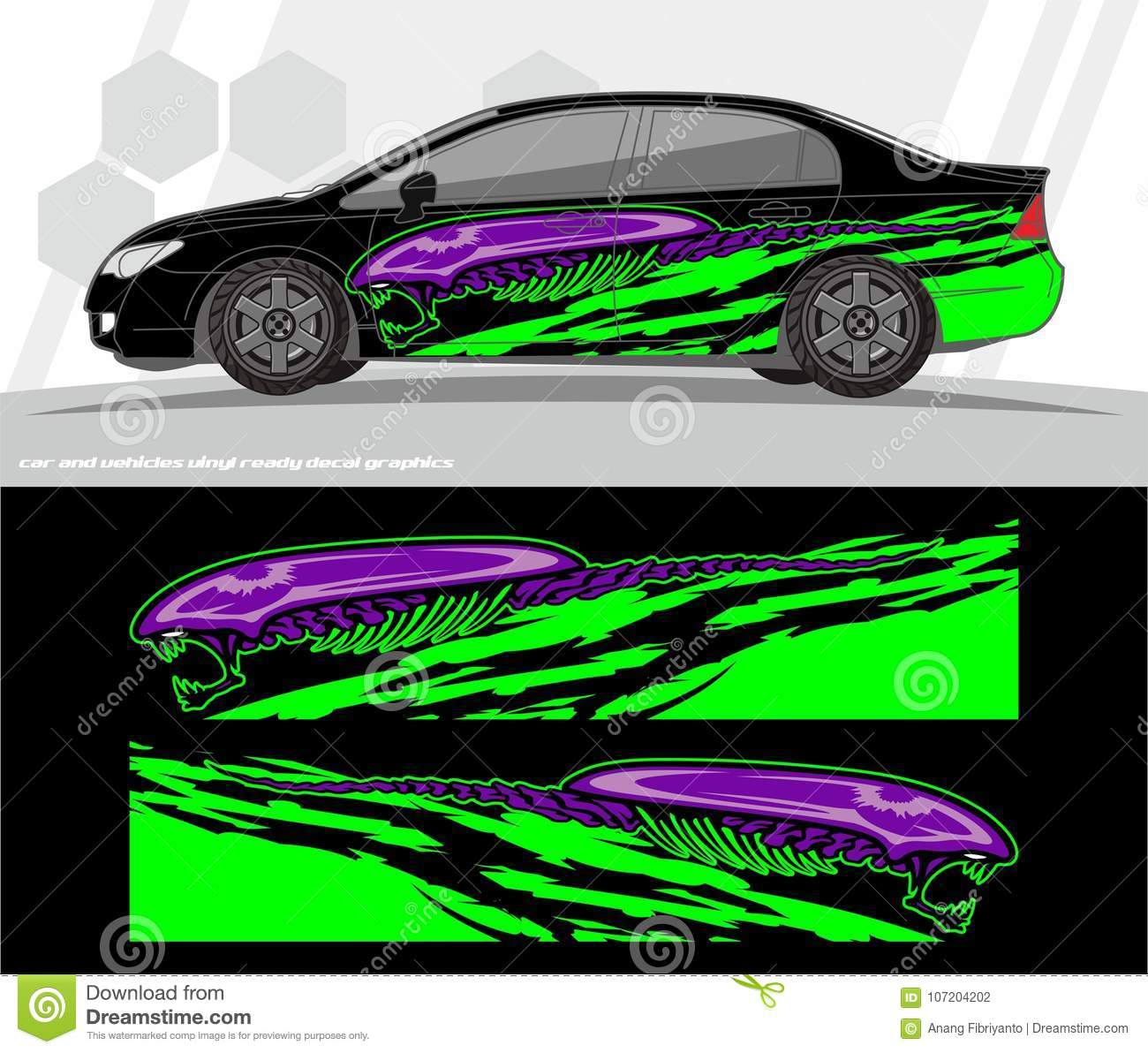 Car And Vehicles Wrap Decal Graphics Kit Vector Designs