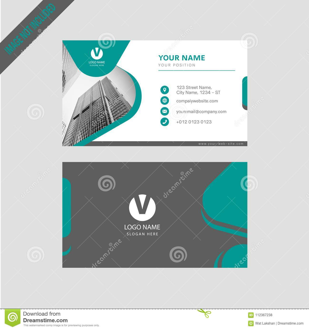 professional modern color simpal business card  invitation