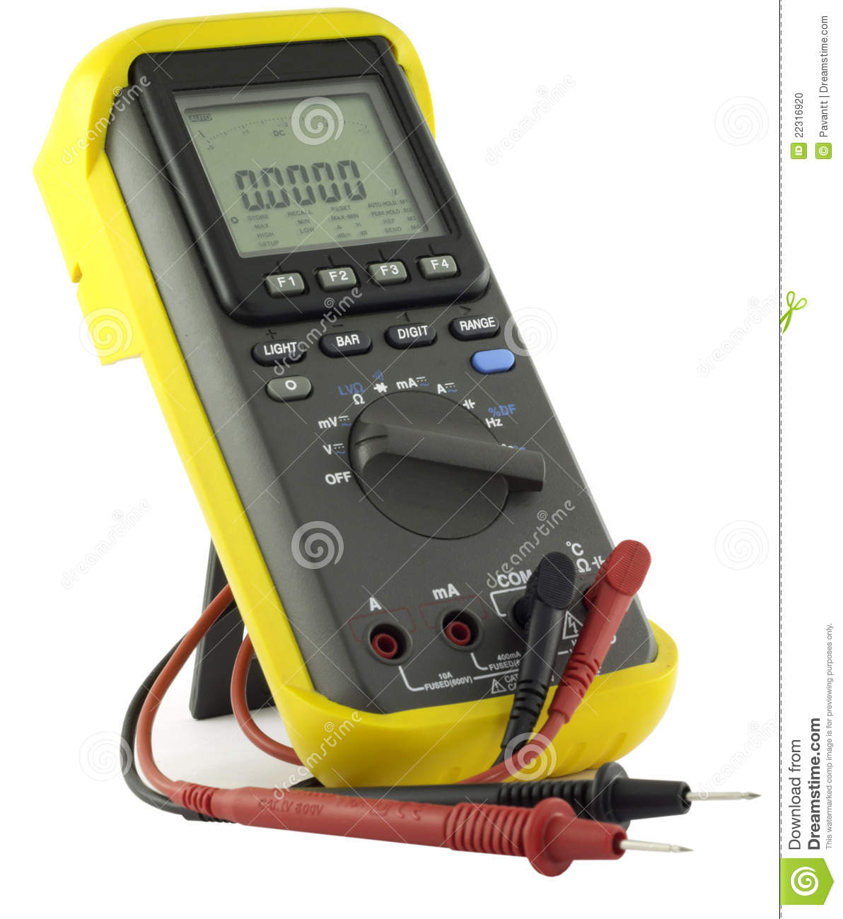 Reading An Ohmmeter : Professional multimeter stock photo image