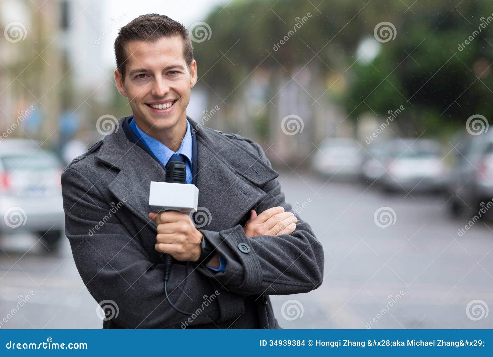 Professional news reporter