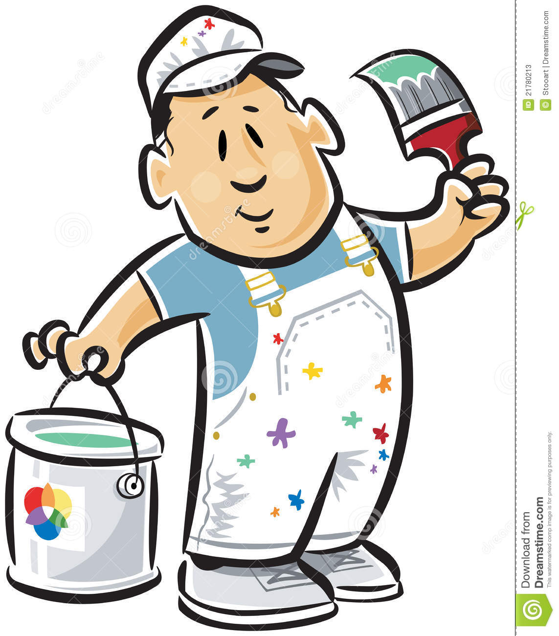 Cute Paint Can Clipart