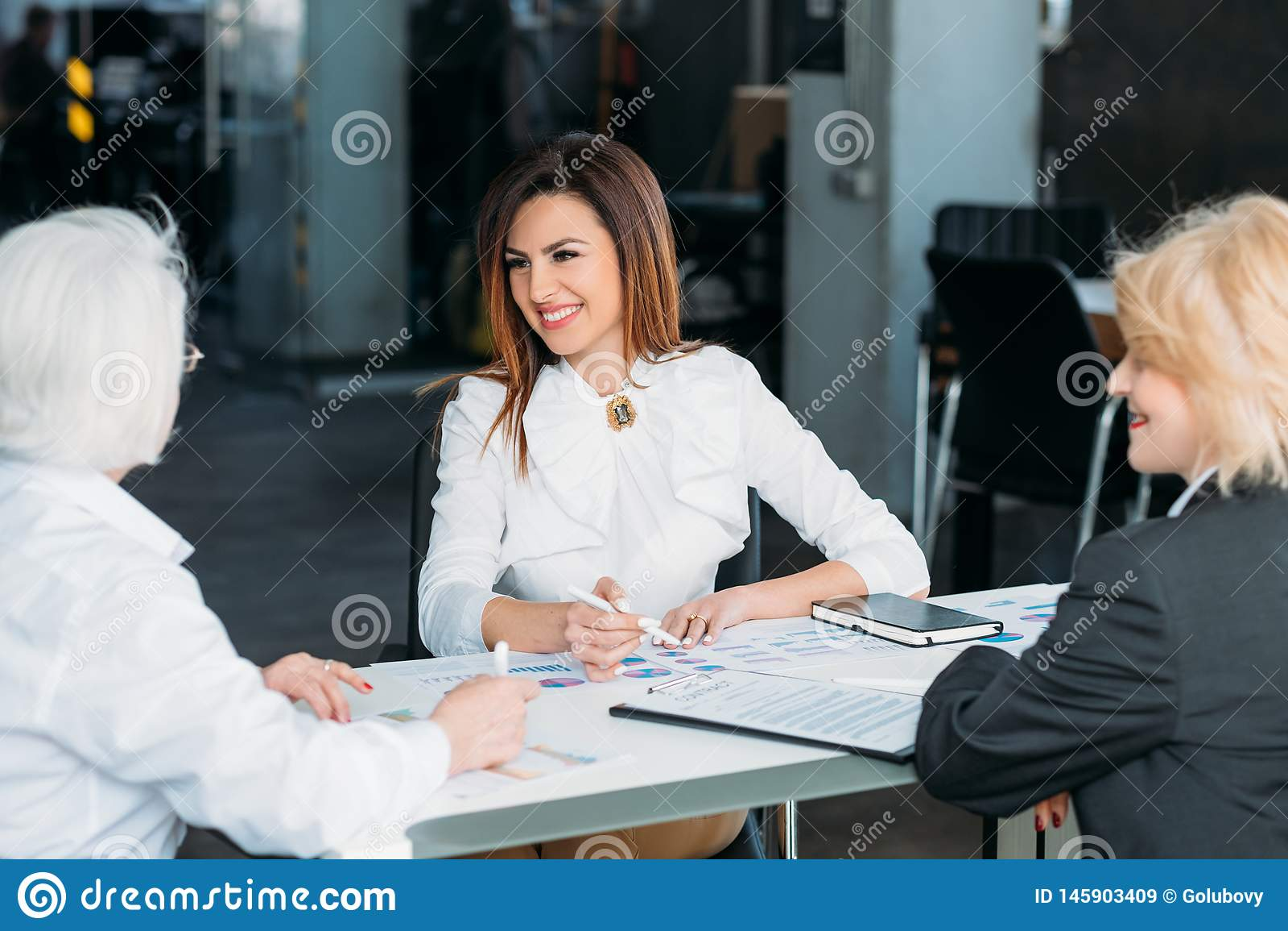 Professional partnership successful business women