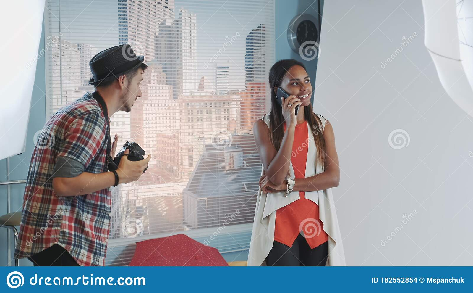 Professional Photographer Asking Model To Stop Talking On