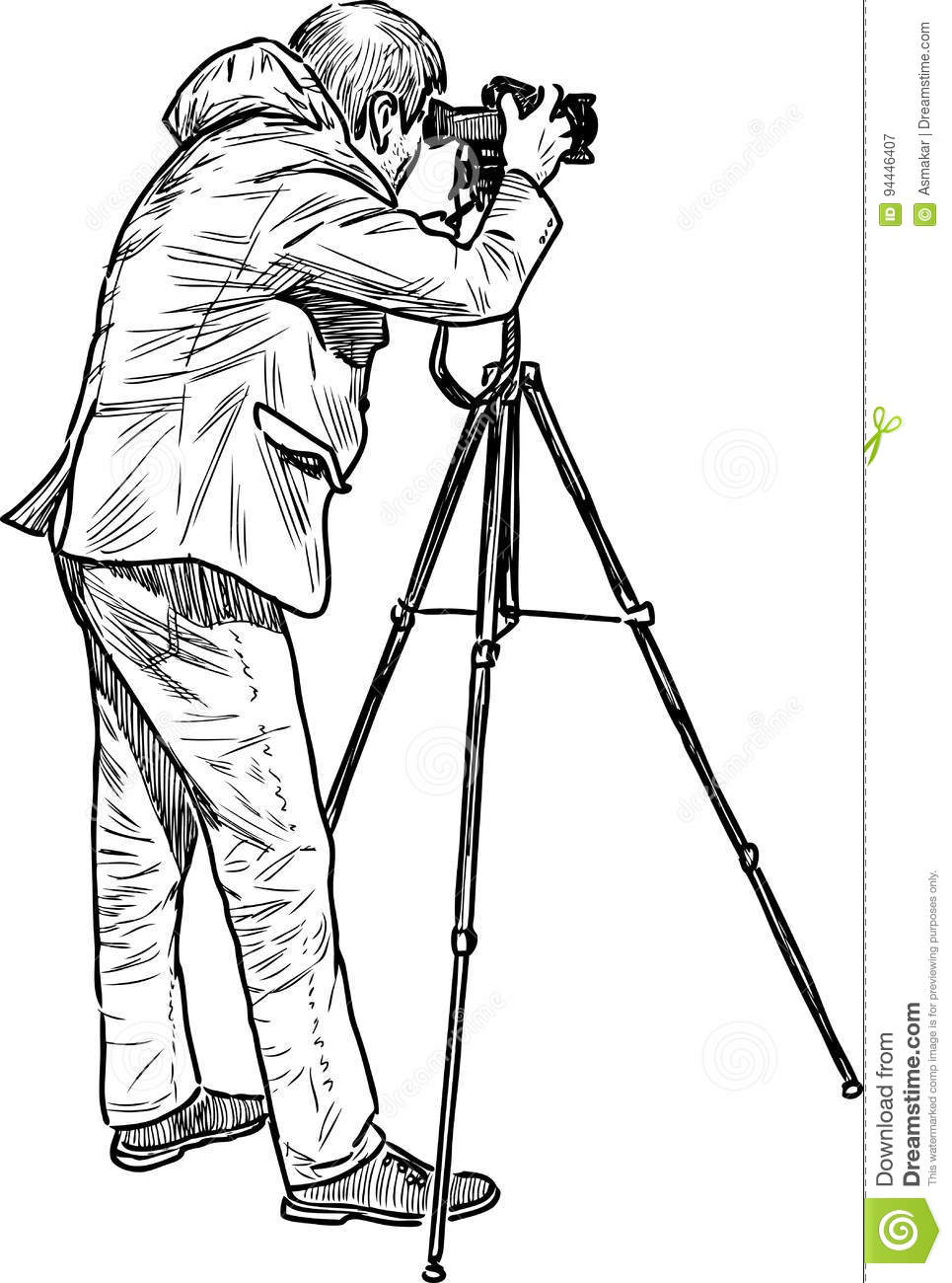A Professional Photographer Shooting Stock Vector ...  A Professional ...