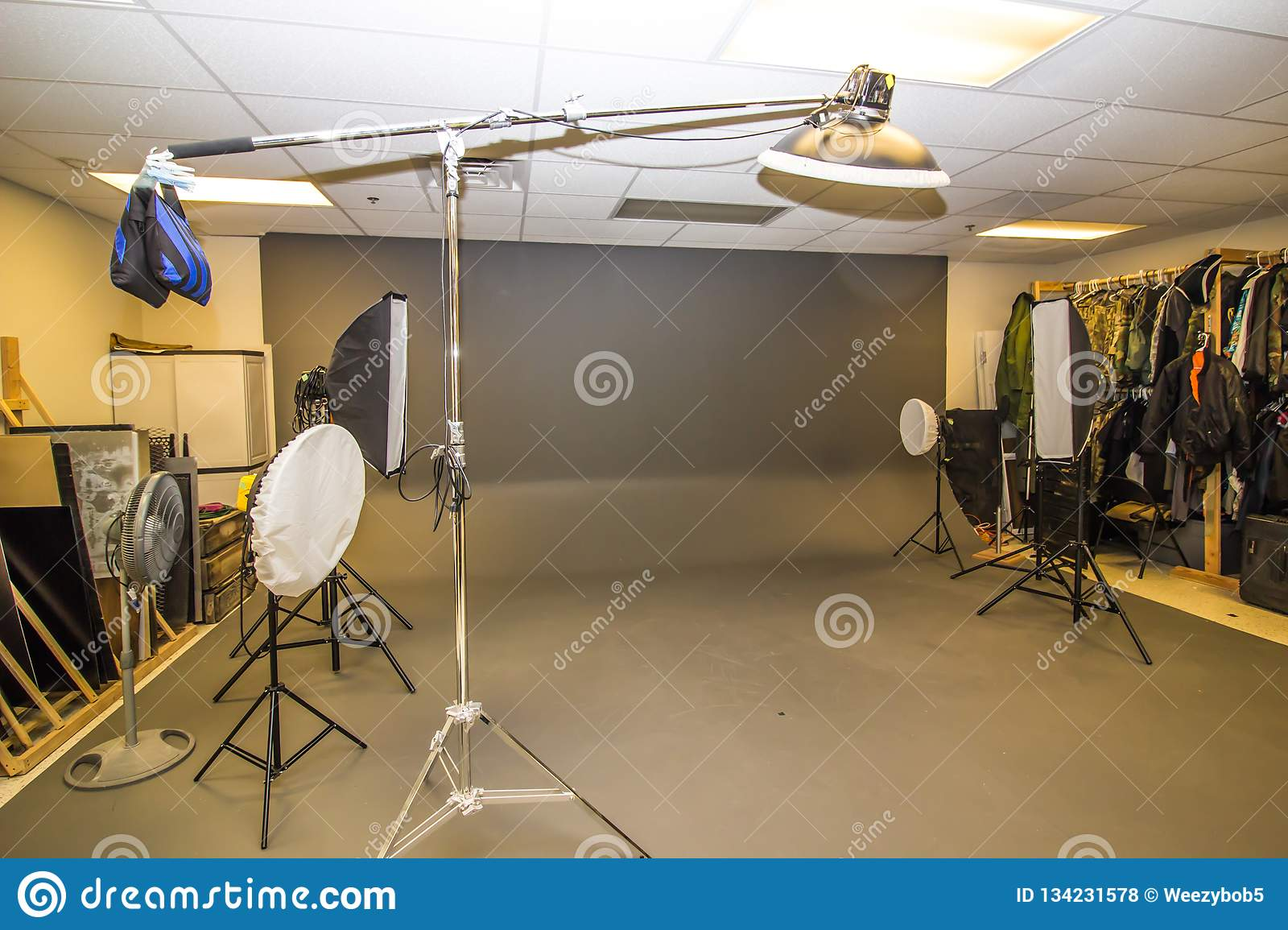 Professional Photography Studio With Lighting And Props Stock Photo Image Of Light Props 134231578