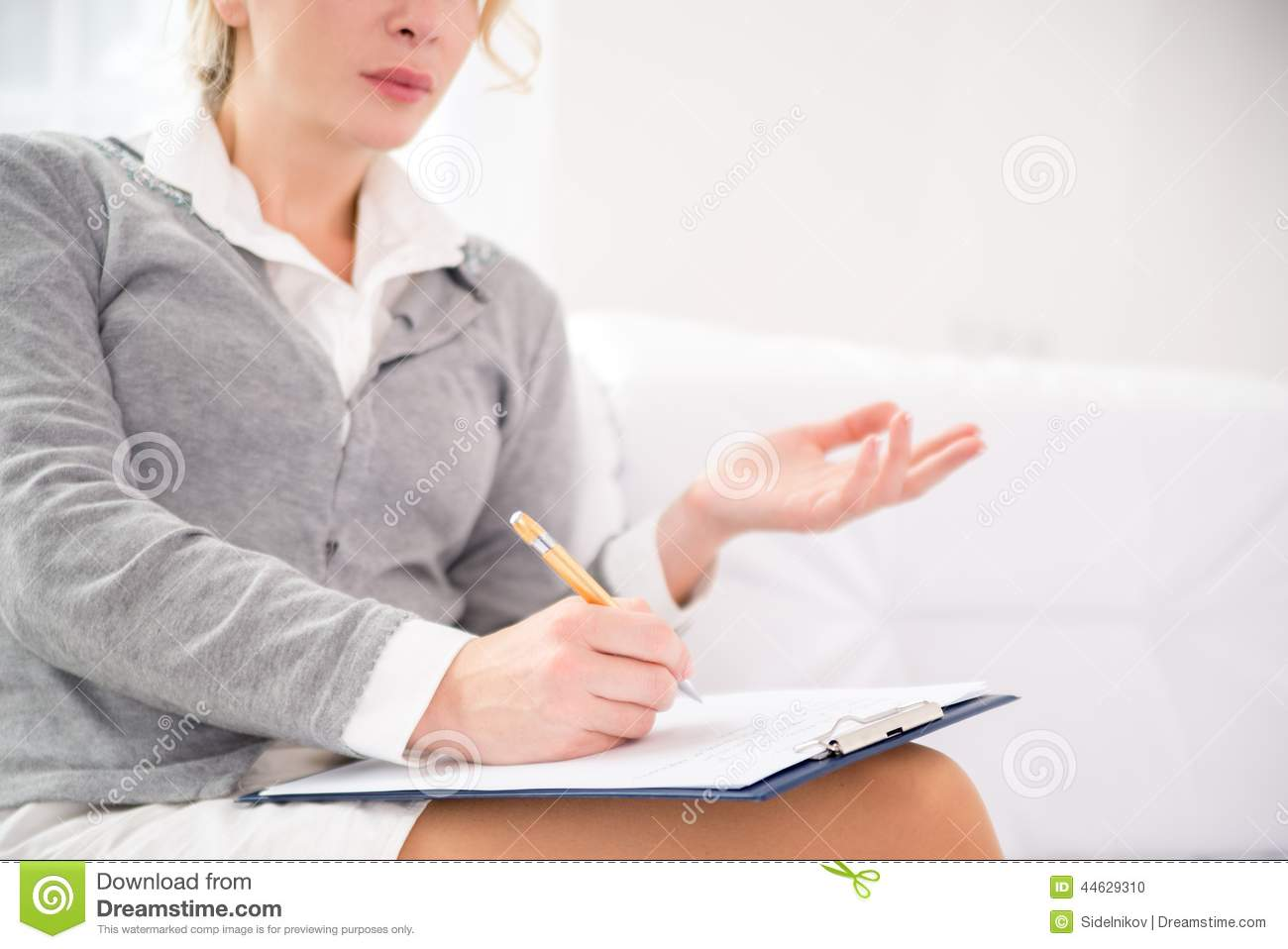 Professional psychiatrist during therapy session