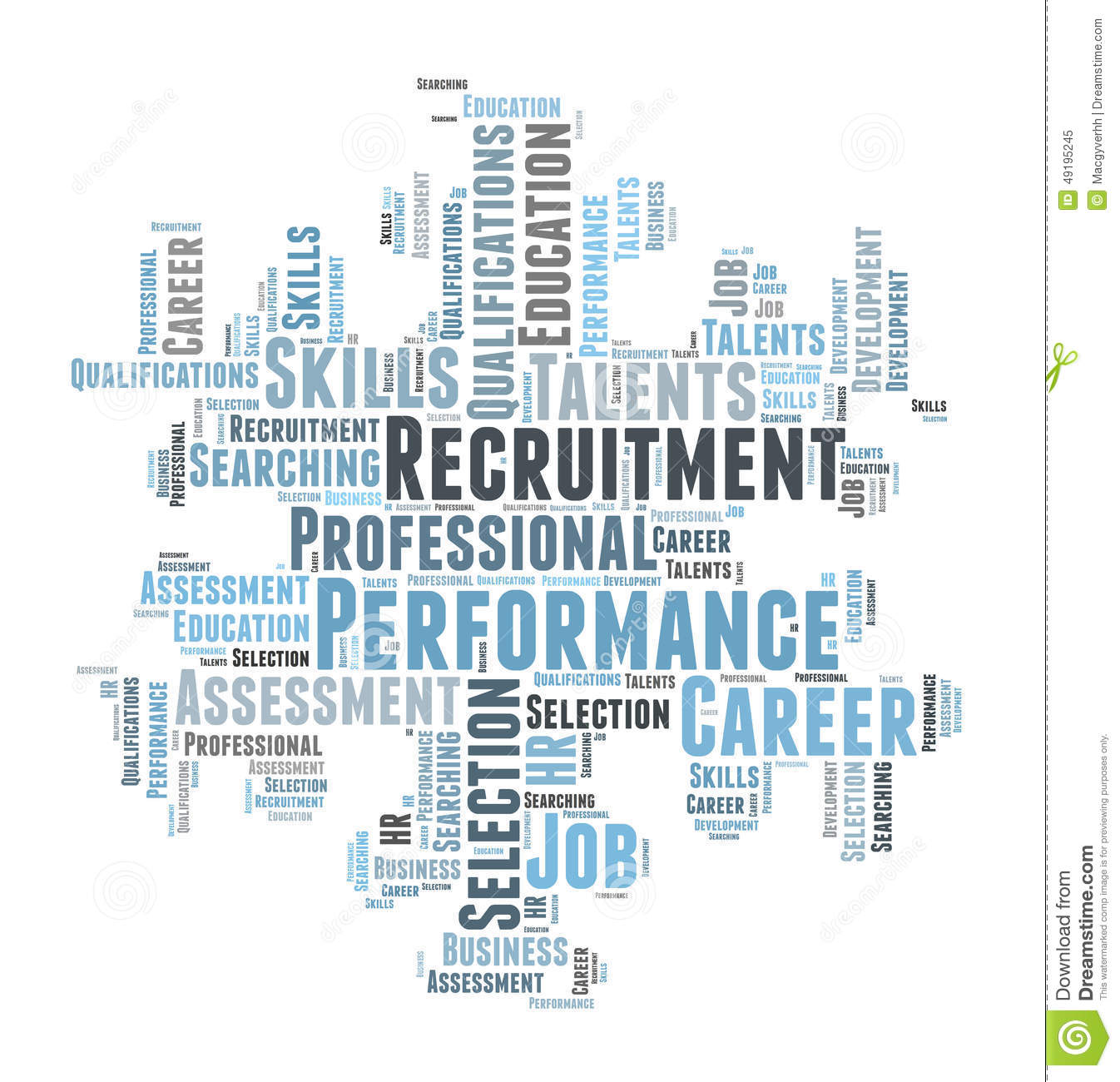 Professional Recruitment: Professional Recruitment Stock Illustration. Illustration