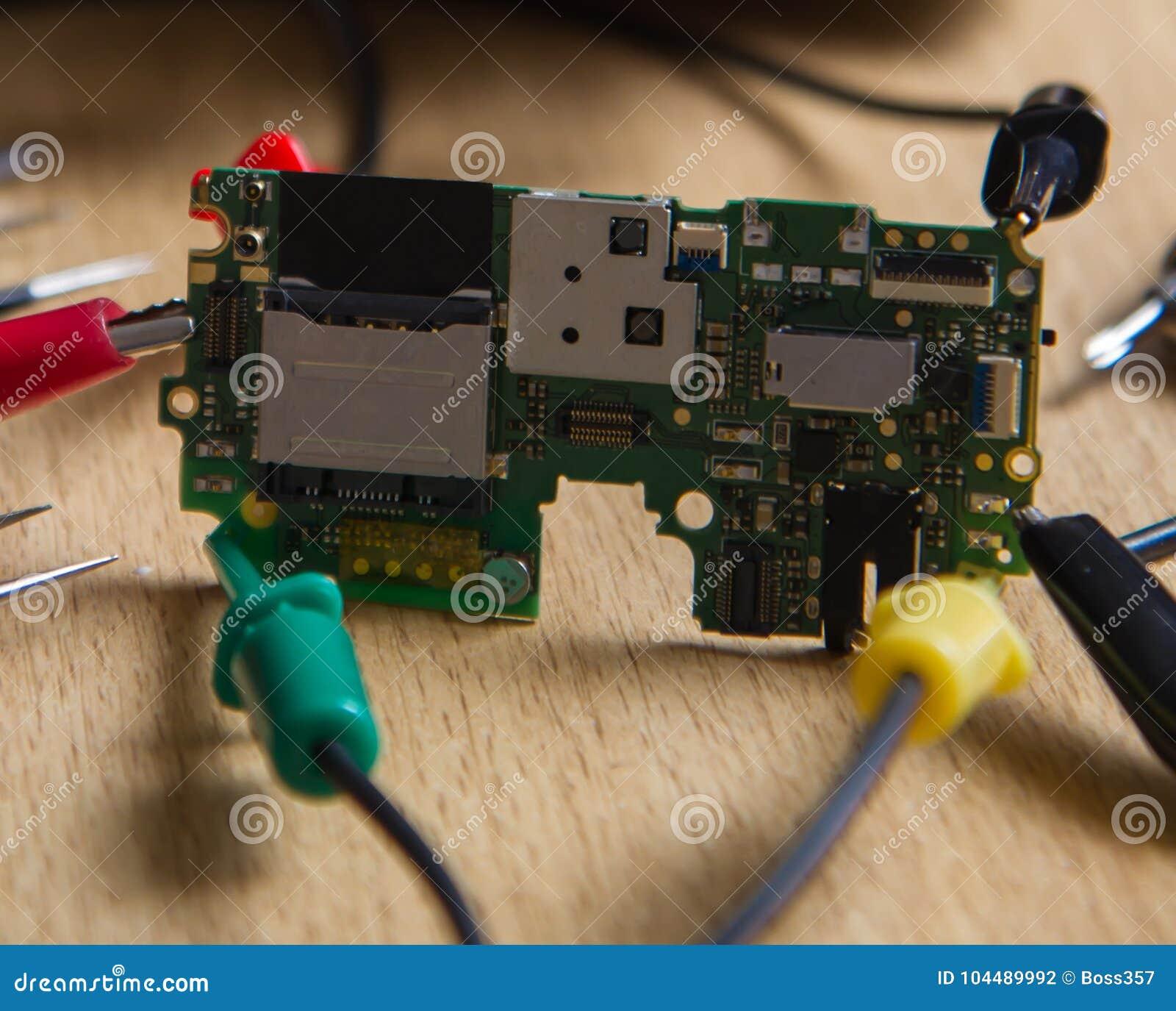 Professional Repair Test Printed Circuit Board Stock Photo Image