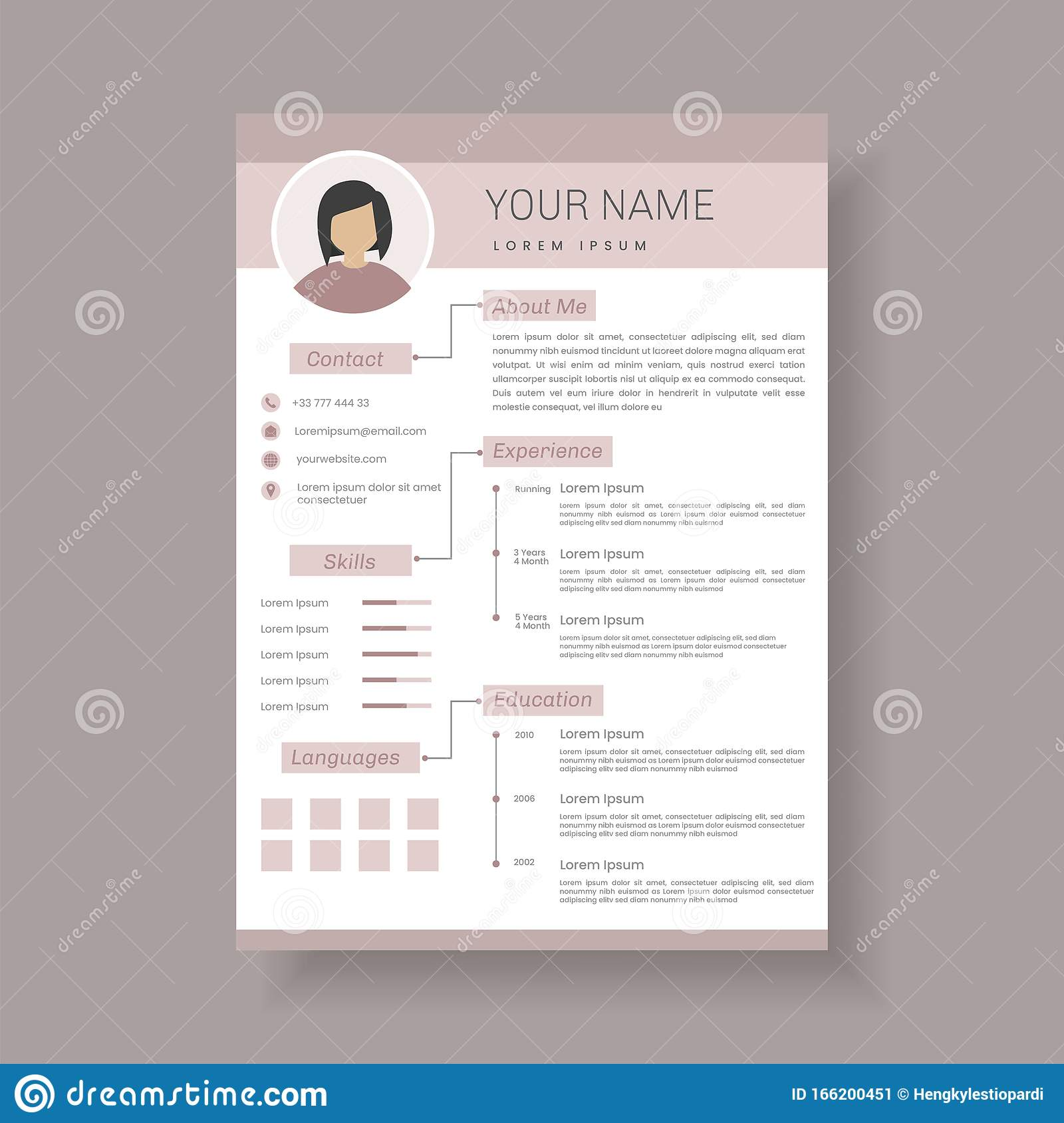 Professional Resume Template Design And Letterhead Cover Letter