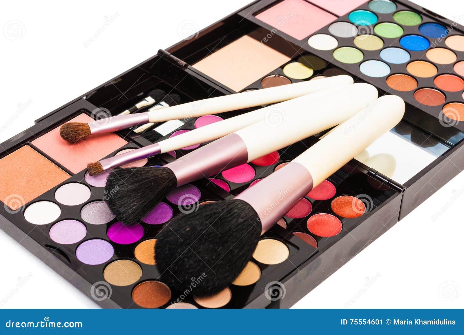 Professional set for make-up.