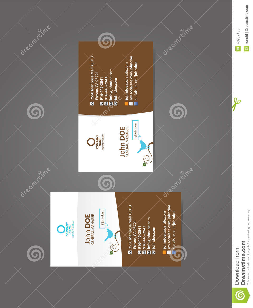 Multiple image business cards choice image free business cards professional social business card stock vector image 43207483 royalty free vector download professional social business card magicingreecefo Images