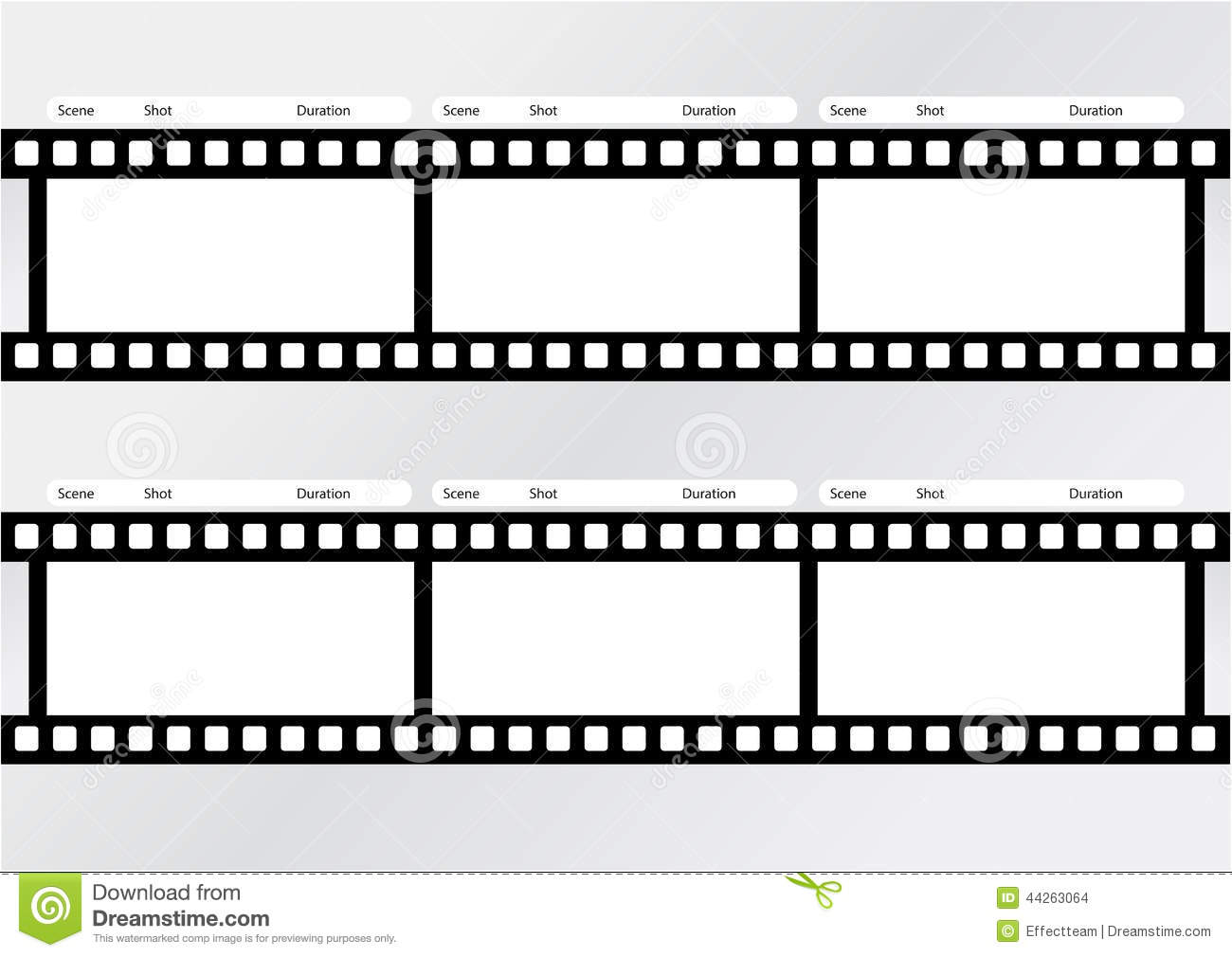 printable film strip template - professional of storyboard film strip template stock