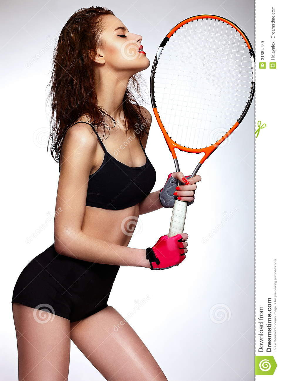 professional tennis player woman model with bright royalty tennis racket clipart png tennis racket clipart free