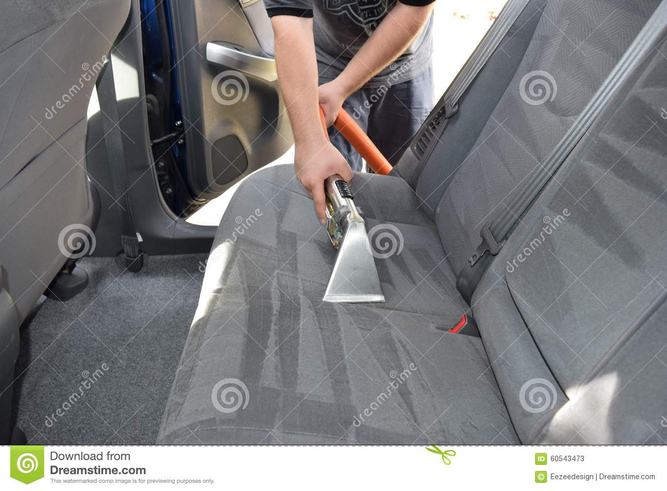 Professional Upholstery Auto Detailing Stock Photo Image 60543473