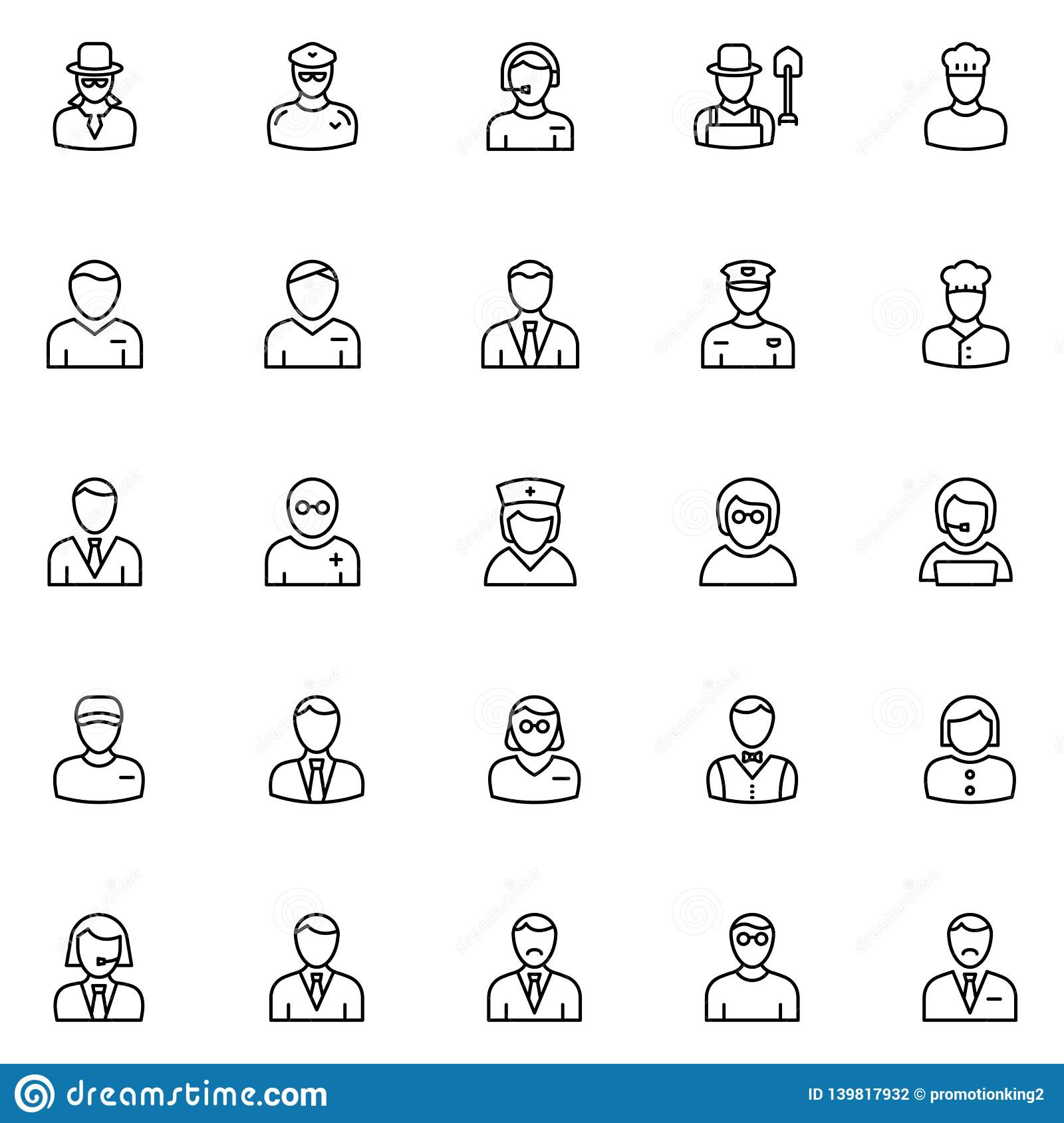 Professional Vector Icons Set that can easily modify or edit