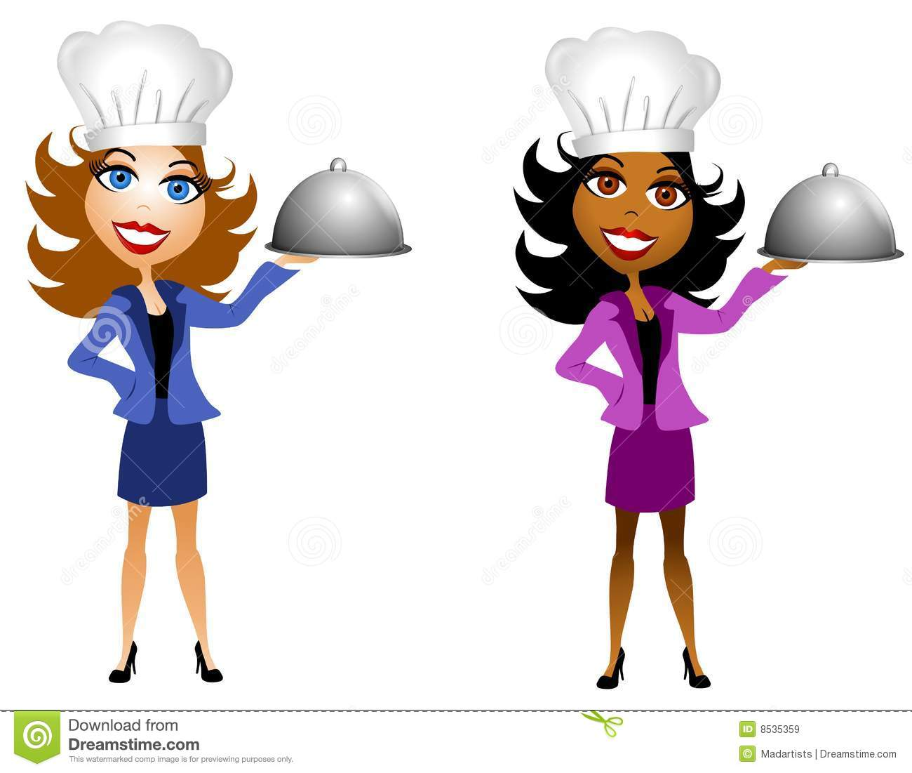 Hats for women clipart