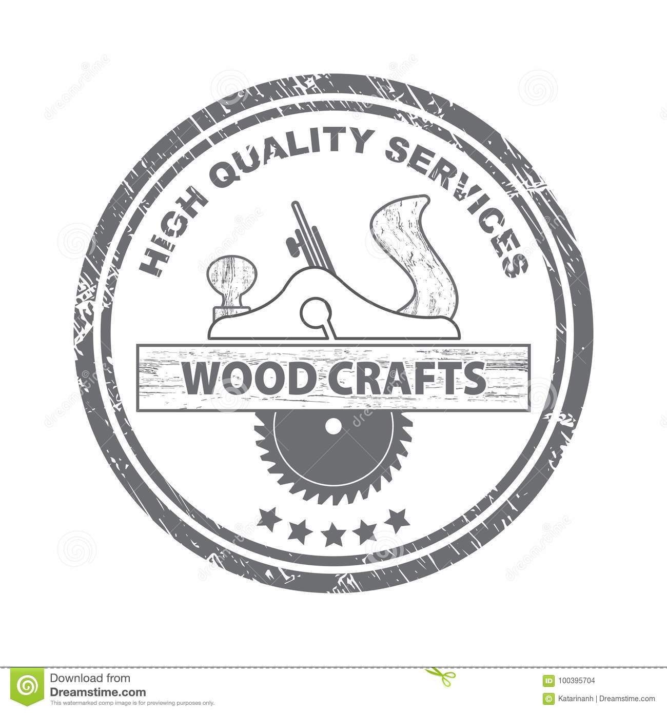 Professional Wood Craft Services Stamp Wood Craft Logo Wood Works